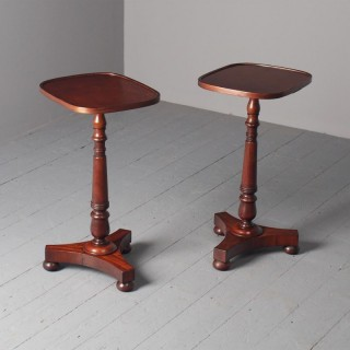 Antique Pair of Mahogany Occasional or Wine Tables