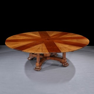 Very Rare 19th Century Extending Jupe Table by Maple & Co