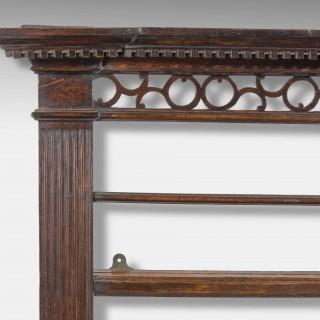 Good George III Period Oak Delft  Rack