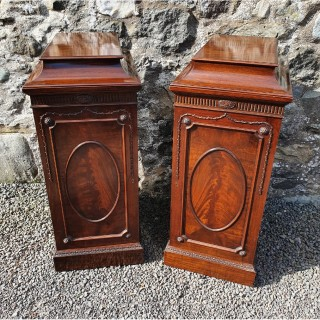 Fine Pair of Adams Style Cabinets by Gillows