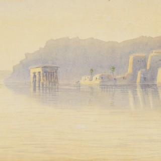 Frederick William Sturge (fl.1878-1908) - Philae: Temples at dawn