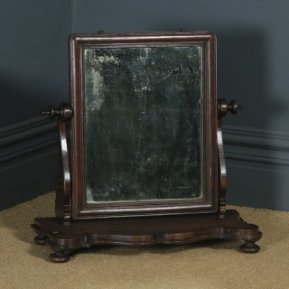 Antique Anglo-Indian Colonial Victorian Teak Dressing Table Mirror (Circa 1870)