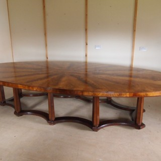 Table huge flame Mahogany dining table to seat 20 c1900