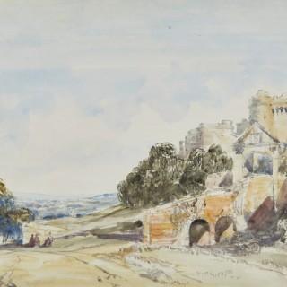 William Callow, R.W.S.  (1812-1908) - Carisbrooke Castle, Isle of Wight