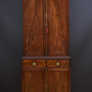 Georgian Flamed Mahogany Bookcase