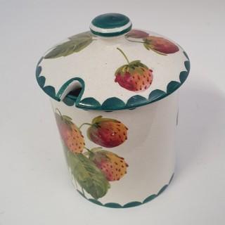 Scottish Wemyss Strawberries Preserve Pot