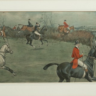 Snaffles Fox Hunting Print, Thrusters