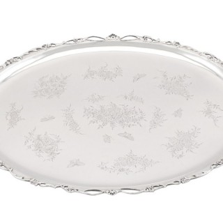Sterling Silver Tray - Antique Edwardian (1903)