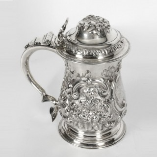 Antique George III Silver Tankard London by John Swift 1763 18th Century