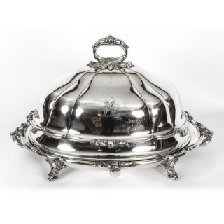 Antique Old Sheffield Plate Oval Beef Venison Tureen & Domed Cover C 1830
