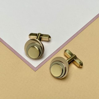 Bvlgari gold cufflinks