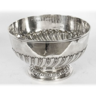 Antique Edwardian Silver Punch Bowl Goldsmiths & Silversmiths Co 1901