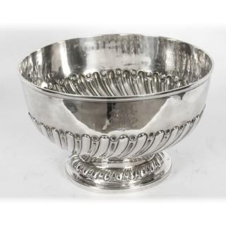 Antique Edwardian Silver Punch Bowl Goldsmiths & Silversmiths Co 1901