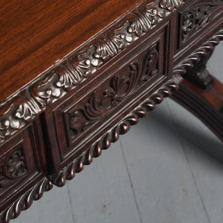 William IV Anglo-Indian Padouk Library Table