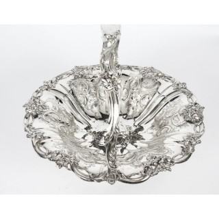 Antique Silver Plated Fruit Basket Robert & Hall C1880 19th Century