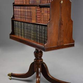 Extremely rare late 18th century  mahogany pedestal waterfall bookcase of superb patina