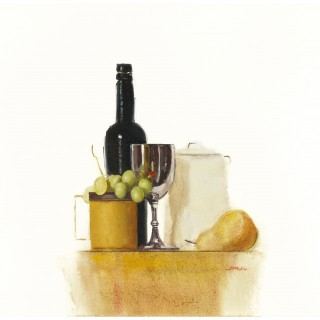 Still Life With Bottle & Grapes, Robert McKellar