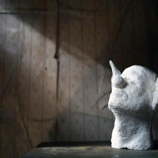 Beth Carter; Clown Head with Donkey Ears; Jesmonite; 2014; Unique
