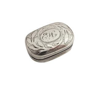Antique Georgian Sterling Silver Vinaigrette 1817