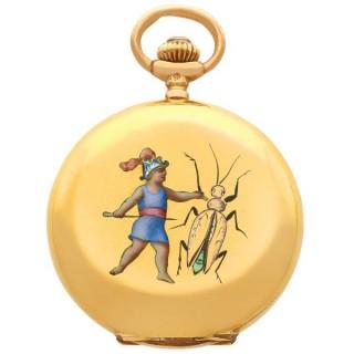 14ct Yellow Gold Ladies Fob Watch - Antique Circa 1900