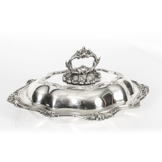 Antique Old Sheffield Silver Plate Entree Dish 19th Century