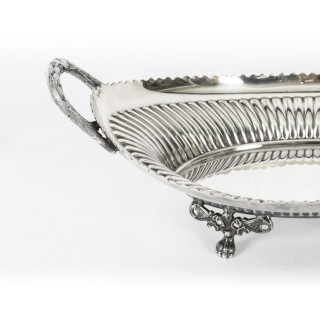 Antique Silver Plated Bread Basket by Walker & Hall 19th Century