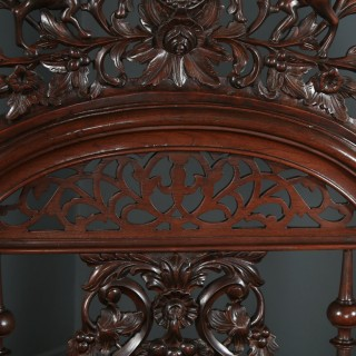 Antique 6ft Victorian Anglo-Indian Colonial Raj Super King Size Four Poster Bed (Circa 1870)