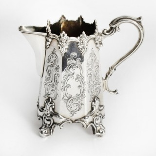 Antique Victorian Silver Plated Cream Jug 19th Century