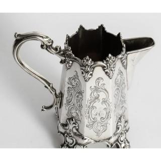 Antique Victorian Silver Plated Cream Jug 19th Century