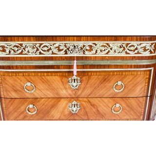 Antique French Louis Revival Ormolu Mounted Commode Chest 19th C