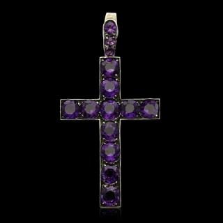 Beautiful Victorian Latin style Cross Pendant circa 1860s