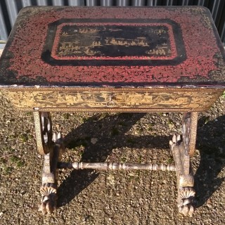Early 19th Century Chinese Export Work Table / Sewing Table