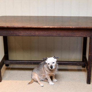 Rustic Mahogany Side Table