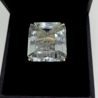 Prasiolite and Gold Ring