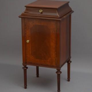 Edwardian Mahogany Bedside Cabinet