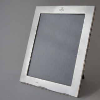 Large Antique Sterling Silver Photograph Frame - 1918