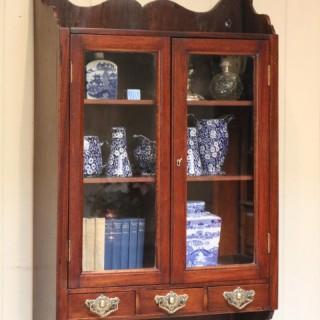 Mahogany Glazed Wall Cabinet