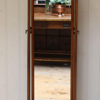 Queen Anne Style Mahogany Cheval Mirror