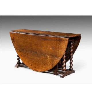 William and Mary Period Gateleg Table