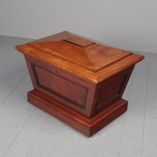 William IV Mahogany Sarcophagus Cellarette