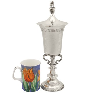 Sterling Silver Cup and Cover by Omar Ramsden - Antique George V (1928)