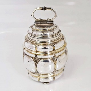 Antique German Silver Tea Cannister