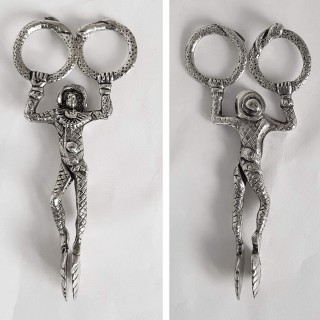 Antique Silver Harlequin Sugar Nips