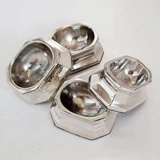 Antique Silver Trencher Salts