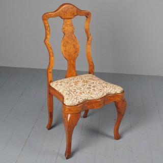 Antique Dutch Marquetry Hand Chair