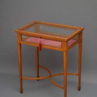 Edwardian Satinwood and Inlaid Bijouterie Table