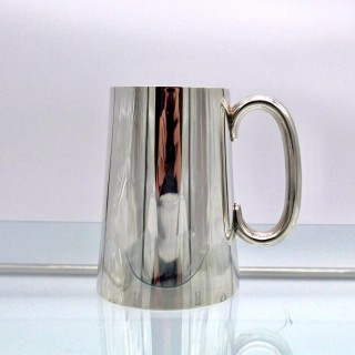 Antique George V Sterling Silver Pint Mug London 1935 Edward Barnards & Sons Ltd