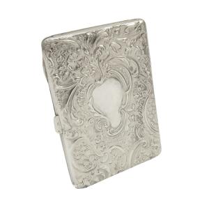 Antique Edwardian Sterling Silver Card Case / Aide Memoire 1902