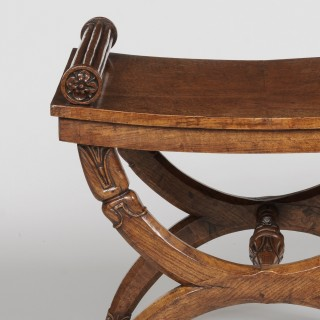 A Regency Period X-Frame Stool Possibly by George Bullock