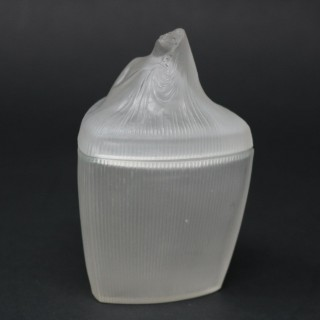 Rene Lalique Frosted Glass 'Tete Femme' Ointment Jar
